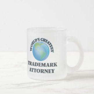 World's Greatest Trademark Attorney Frosted Glass Mug