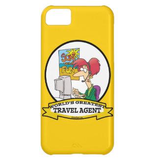 WORLDS GREATEST TRAVEL AGENT WOMEN CARTOON iPhone 5C CASE