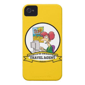 WORLDS GREATEST TRAVEL AGENT WOMEN CARTOON Case-Mate iPhone 4 CASES