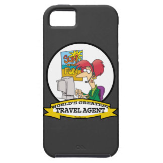 WORLDS GREATEST TRAVEL AGENT WOMEN CARTOON iPhone 5 CASES