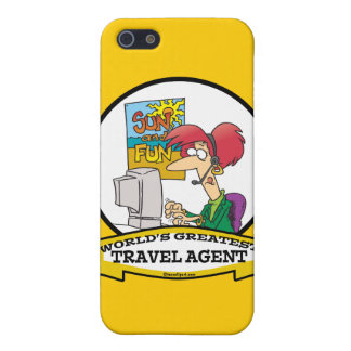 WORLDS GREATEST TRAVEL AGENT WOMEN CARTOON iPhone 5/5S COVER