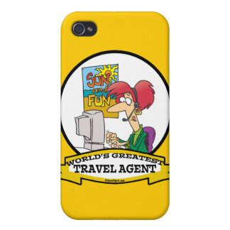 WORLDS GREATEST TRAVEL AGENT WOMEN CARTOON iPhone 4/4S COVER