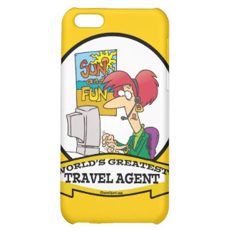 WORLDS GREATEST TRAVEL AGENT WOMEN CARTOON CASE FOR iPhone 5C