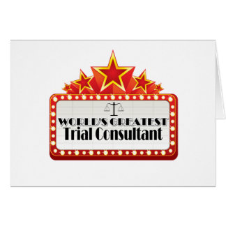 World's Greatest Trial Consultant Card