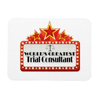 World's Greatest Trial Consultant Rectangular Photo Magnet