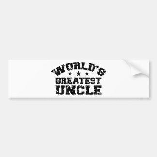 World's Greatest Uncle Bumper Sticker