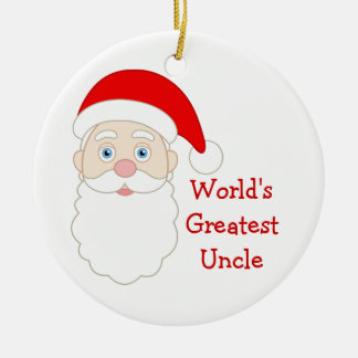 Worlds Greatest Uncle Ceramic Ornament