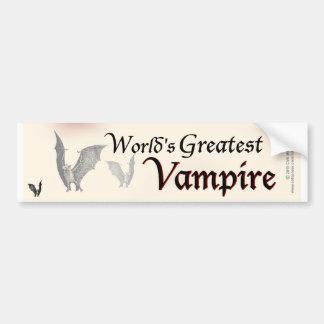 World's Greatest Vampire Bumper Sticker