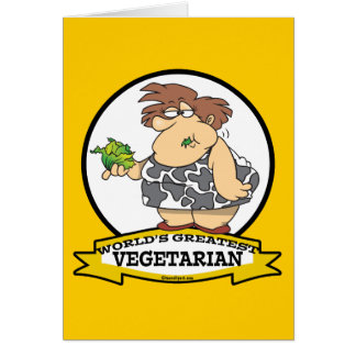 WORLDS GREATEST VEGETARIAN CARTOON CARD