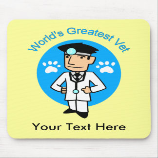 World's Greatest Vet Customizable Mousepad