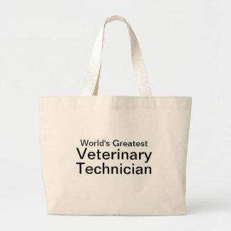 World's Greatest Vet Tech Jumbo Tote Bag