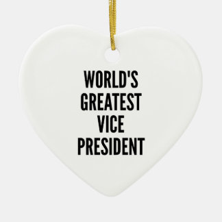 Worlds Greatest Vice President Ceramic Heart Decoration