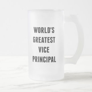 Worlds Greatest Vice Principal Frosted Glass Beer Mug