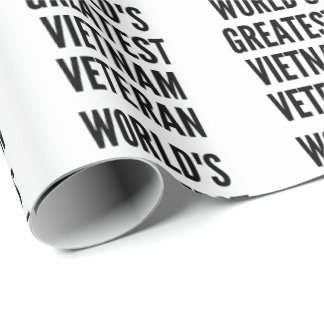Worlds Greatest Vietnam Veteran Wrapping Paper