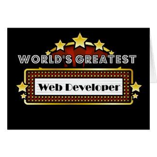 World's Greatest Web Developer Greeting Card