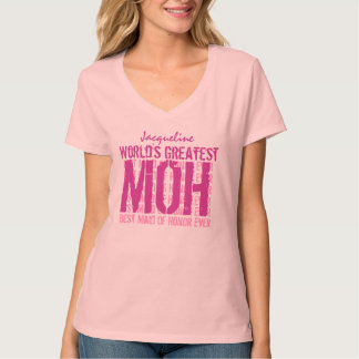 World's Greatest Wedding Maid of Honor MOH V02E T-Shirt