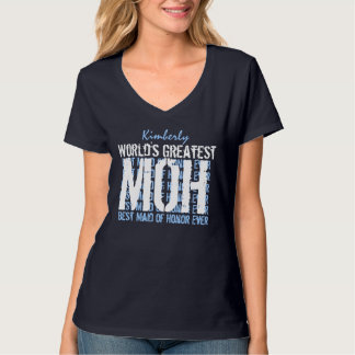 World's Greatest Wedding Maid of Honor MOH V02F T-Shirt