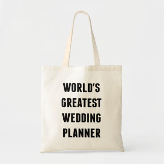 Worlds Greatest Wedding Planner Tote Bag
