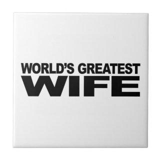 World's Greatest Wife Tile