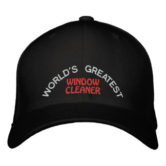 WORLD'S GREATEST, WINDOW CLEANER EMBROIDERED HAT