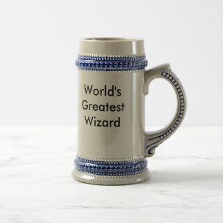 World's Greatest Wizard Beer Stein