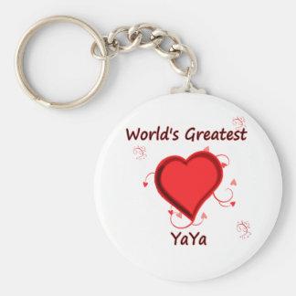 World's Greatest yaya Basic Round Button Key Ring