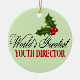 World's Greatest Youth Director Ceramic Ornament