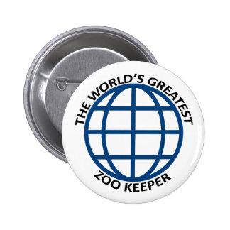 world's Greatest Zoo Keeper 6 Cm Round Badge
