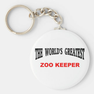 World's Greatest Zoo Keeper Key Ring