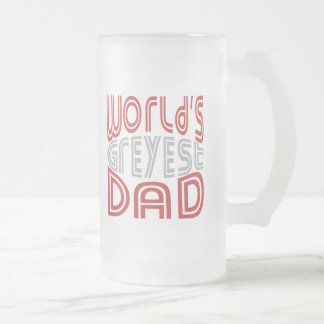 World's GREYEST Dad © - Funny Father Frosted Glass Mug