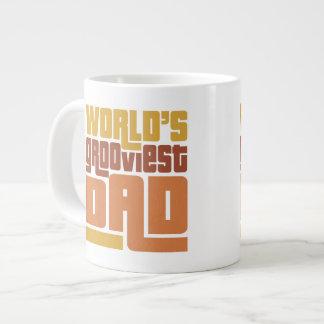 World's Grooviest Dad Retro Funny Jumbo Mug