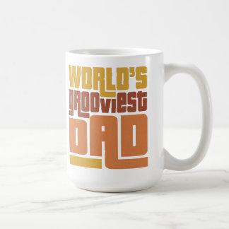 World's Grooviest Dad Retro Funny Mug