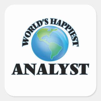 World's Happiest Analyst Square Sticker