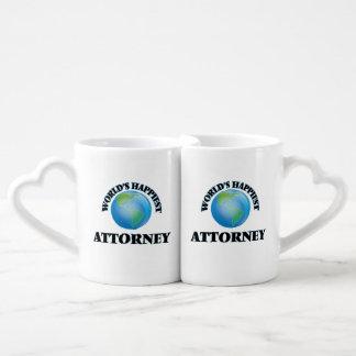 World's Happiest Attorney Lovers Mugs