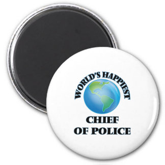 World's Happiest Chief Of Police 6 Cm Round Magnet