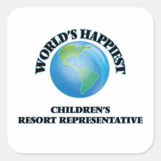 World's Happiest Children's Resort Representative Square Sticker