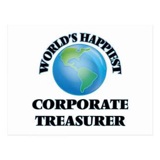 World's Happiest Corporate Treasurer Postcard