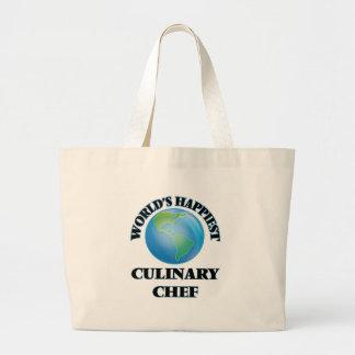World's Happiest Culinary Chef Jumbo Tote Bag