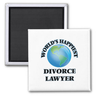 World's Happiest Divorce Lawyer 2 Inch Square Magnet