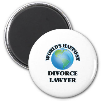 World's Happiest Divorce Lawyer 6 Cm Round Magnet