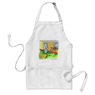 Worlds Happiest Dog Funny Tees Mugs & Gifts Standard Apron