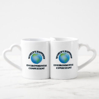 World's Happiest Environmental Consultant Lovers Mug Sets