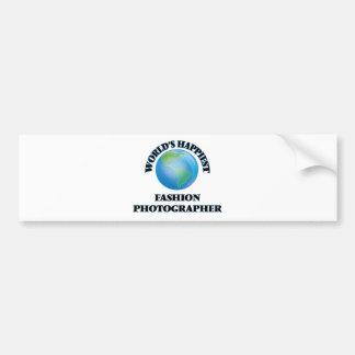World's Happiest Fashion Photographer Bumper Sticker