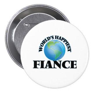 World's Happiest Fiance 7.5 Cm Round Badge