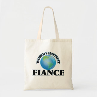 World's Happiest Fiance Budget Tote Bag