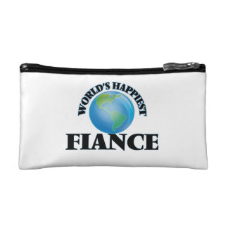 World's Happiest Fiance Makeup Bags