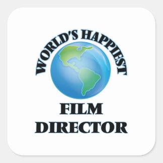 World's Happiest Film Director Square Sticker