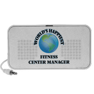 World's Happiest Fitness Center Manager Laptop Speakers