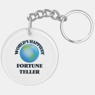 World's Happiest Fortune Teller Double-Sided Round Acrylic Key Ring