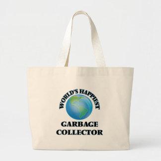 World's Happiest Garbage Collector Jumbo Tote Bag